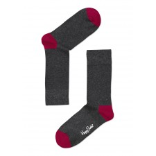 Happy Socks - Basic Antraciet/Rood